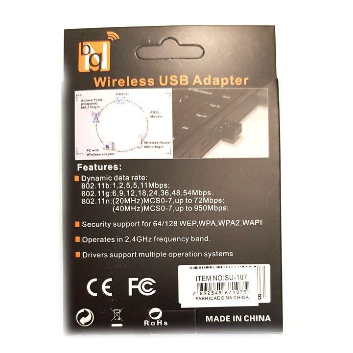 Adaptador Wireless Wifi USB Nano