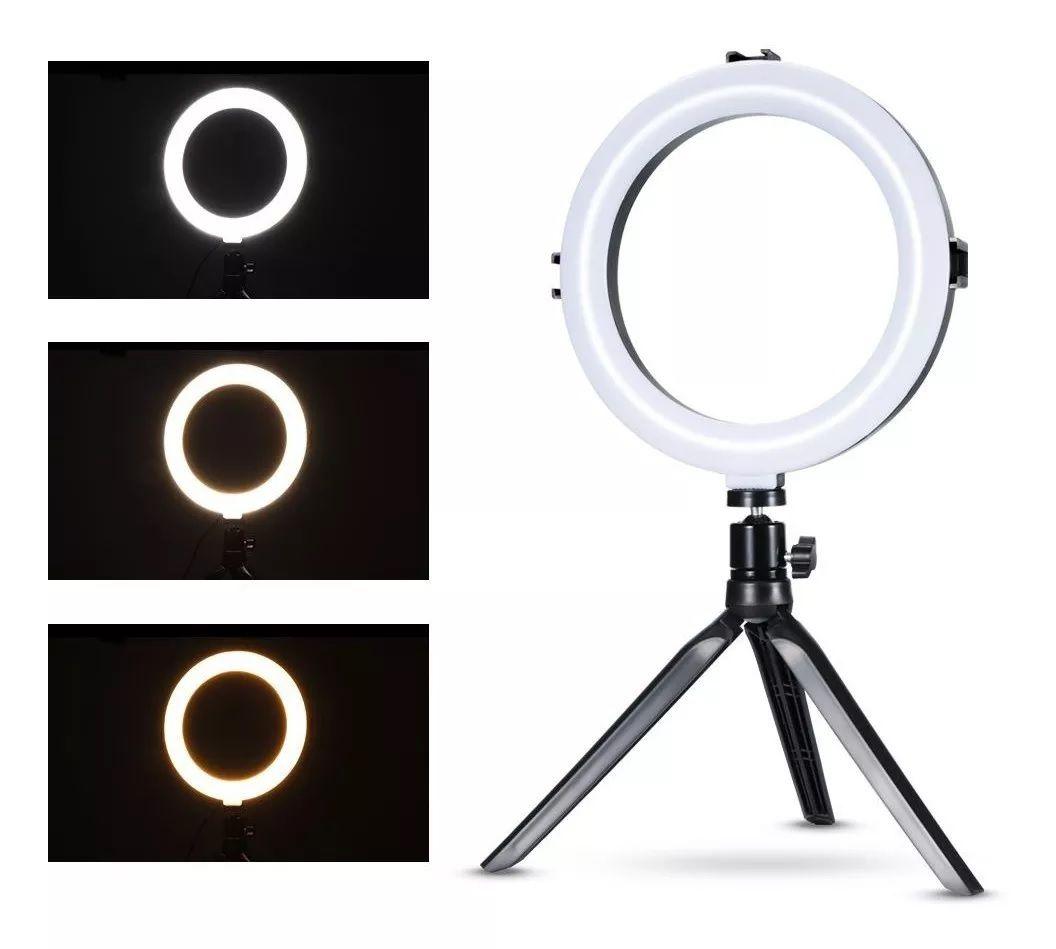 Anel De Luz Led Ring Light 20cm 8 Polegadas Iluminação