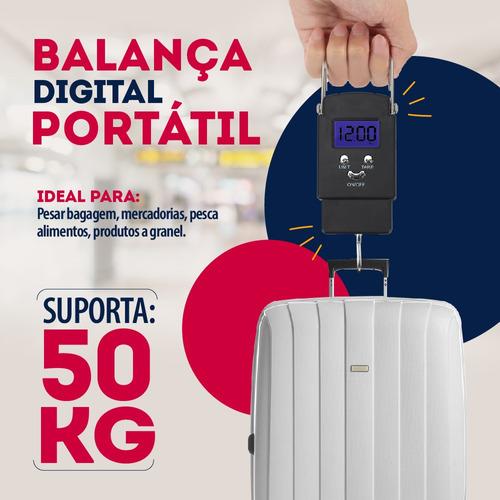 Balança De Mão Digital Gancho Até 50KG WH-A08