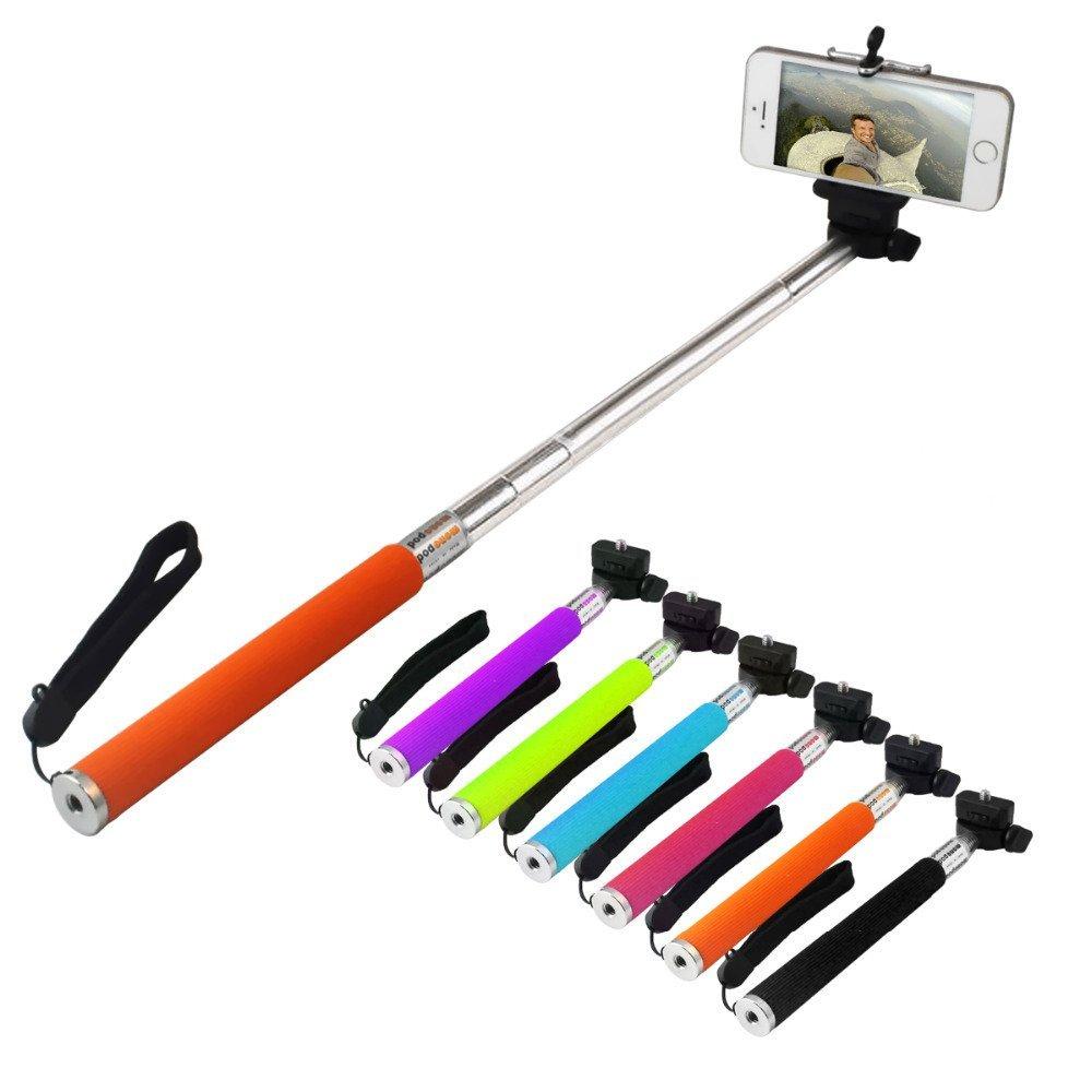 Bastão Pau de Selfie Monopod c/ Controle Remoto Bluetooth Verde