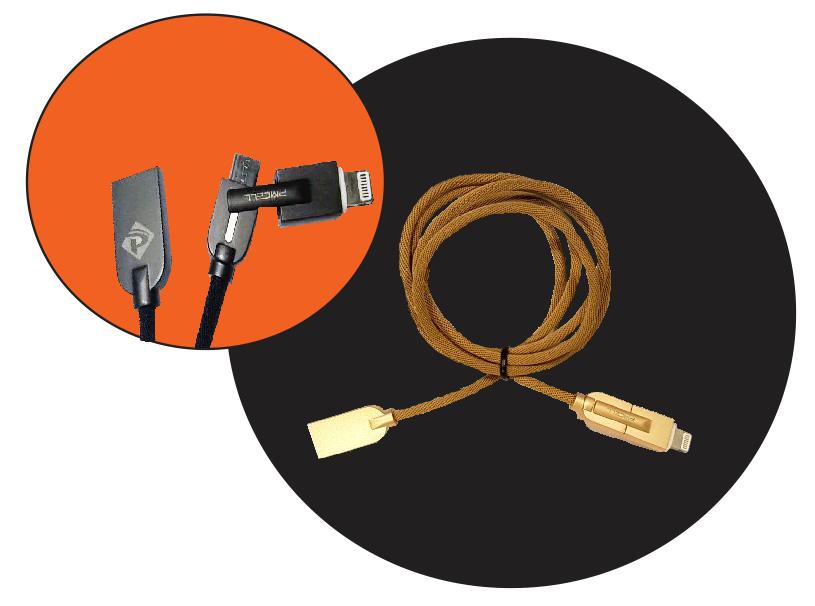 Cabo 2 em 1 micro USB e Lightningt 2x Faster PMCEL CB-33 - Pmcell