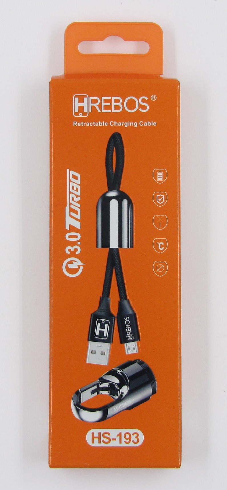 Cabo Chaveiro 3.0 Turbo Micro USB V8 HS193 - HREBOS