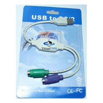 Cabo Conversor USB PS2 (teclado e mouse)