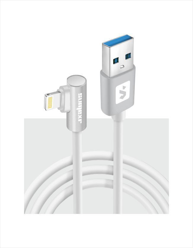 Cabo Lightning plug lateral 2.4A 1m SS-B9i6 - Sumexr