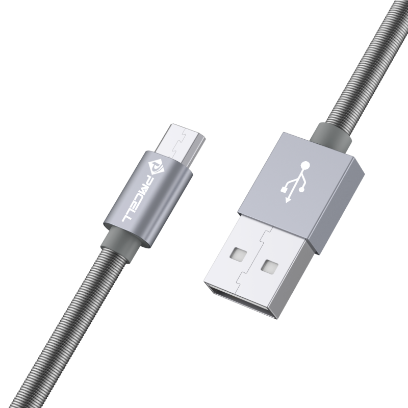 CABO MICRO USB MOLA 1M - PMCELL CROMO887 CB22