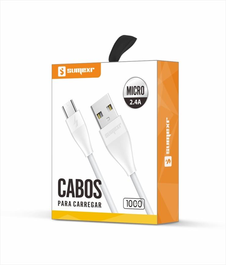 Cabo Micro USB V8 1M SX-B30-V8 - Sumexr