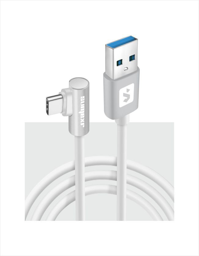 Cabo TIPO C plug lateral 2.4A 1m SS-B9C - Sumexr
