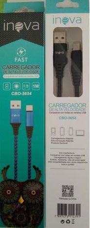 Cabo Turbo USB | 1m Tipo C | Inova CBO