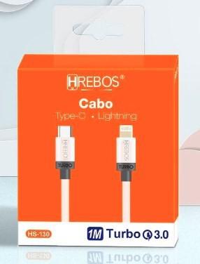 Cabo Tipo C x Lightning 3.1A 1,2M HS130 - HREBOS