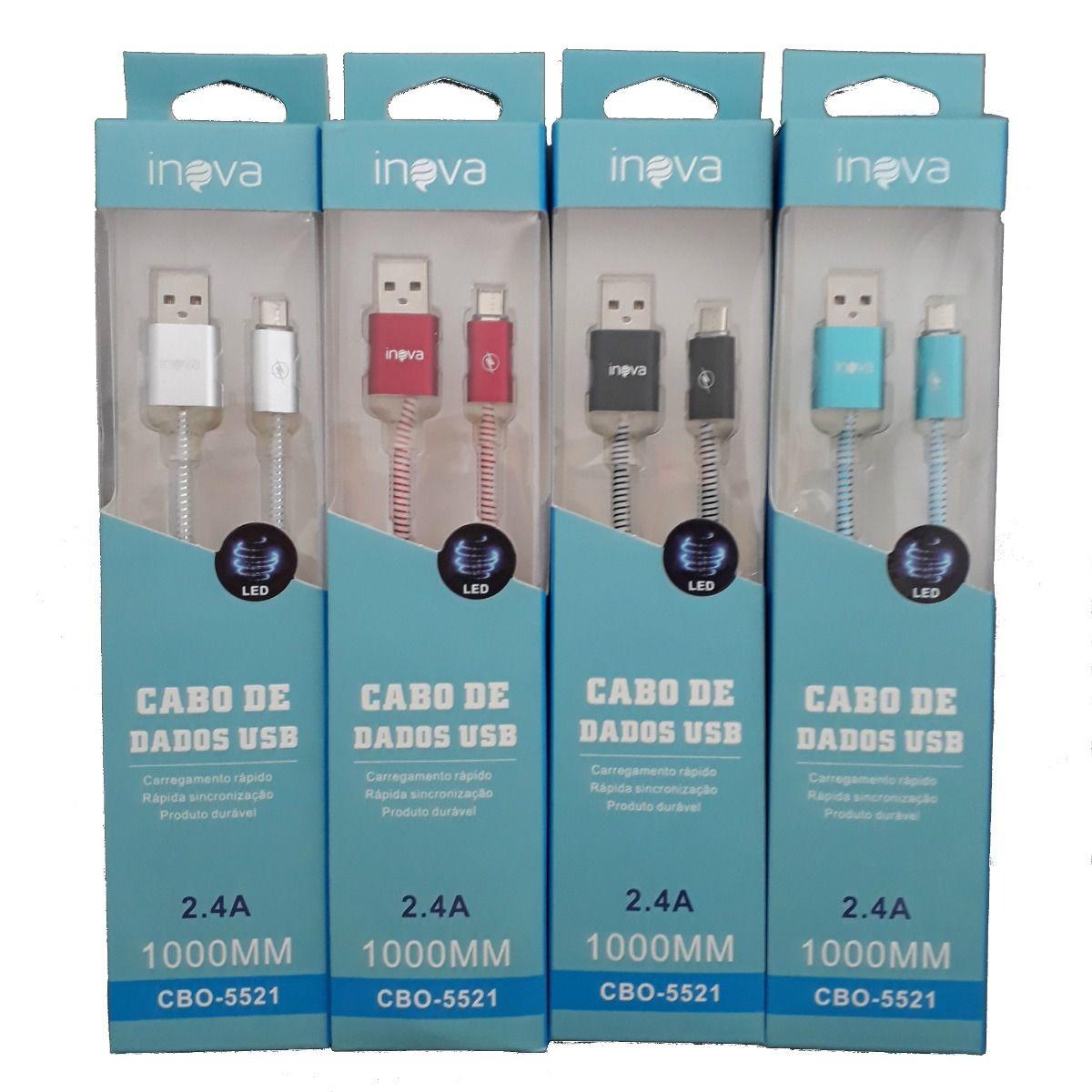 Cabo Turbo USB C/ LED | 1m V8 | Inova CBO