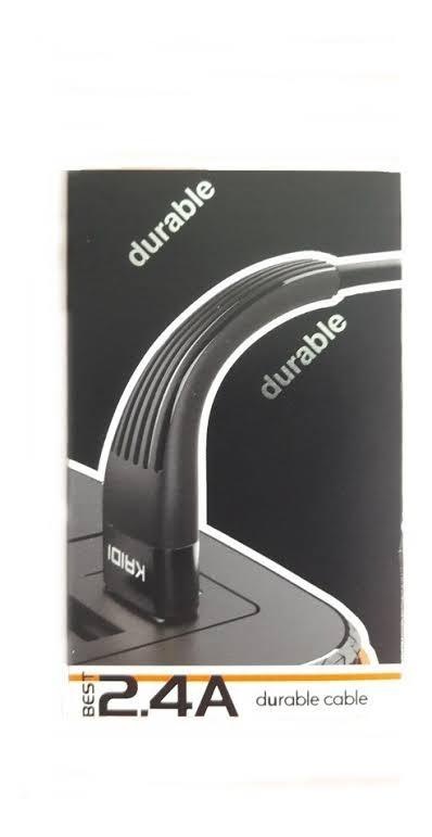 Cabo USB Flexível Resistente | 1M V8 2.4a | KAIDI KD58S