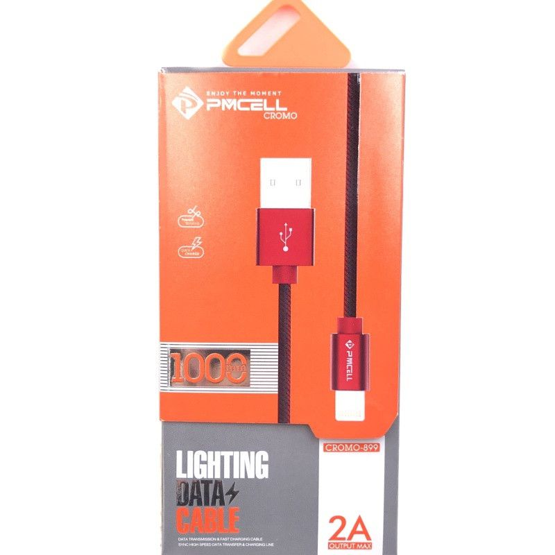 CABO DADOS TURBO USB | IPHONE LIGHTNING 1M | PMCELL CROMO899 CB21