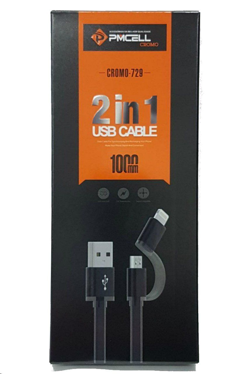 CABO USB 2x1 IPHONE LIGHTNING + MICRO USB - PMCELL CROMO729 CB31