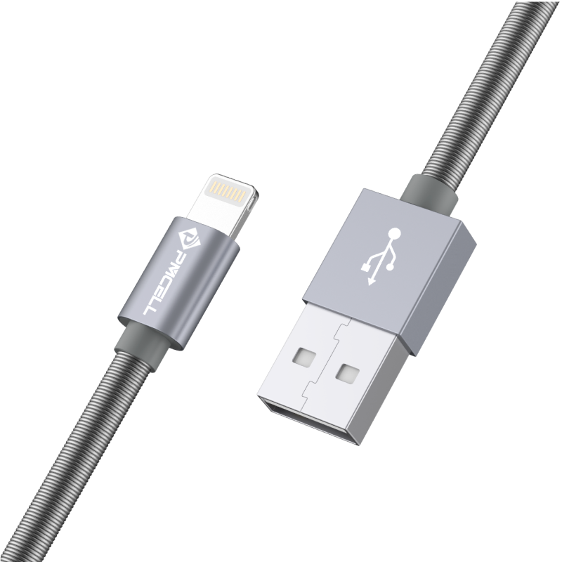 CABO USB IPHONE LIGHTNING MOLA 1M - PMCELL CROMO897 CB22