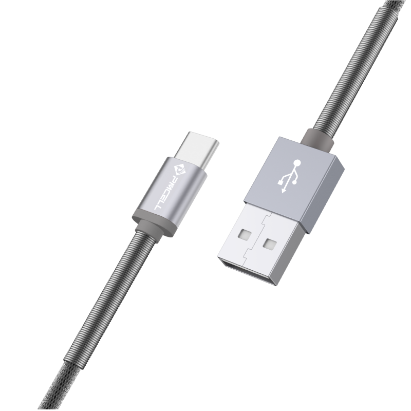 CABO USB TIPO C MOLA 1M - PMCELL CROMO877 CB22