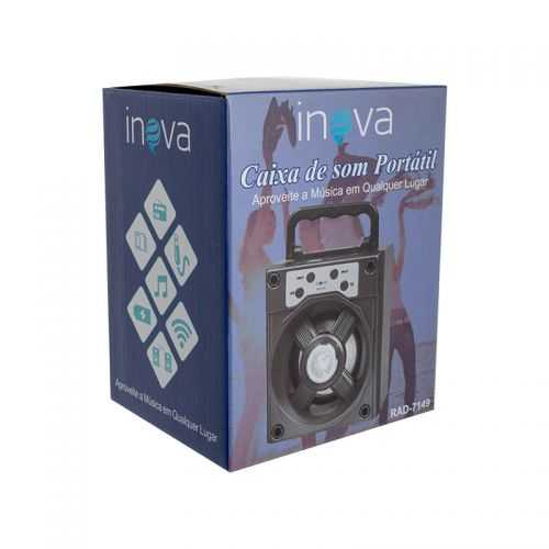 Caixa de som Bluetooth Portátil Inova RAD-7149