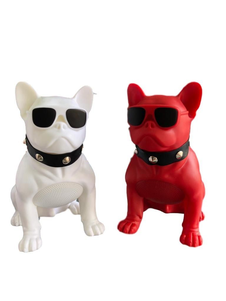 Caixa de Som Portátil Bluetooth Grasep D-Q11 Bulldog Colorida