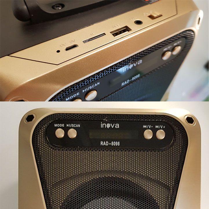 Caixa De Som Portátil Bluetooth Rad-8098