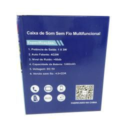 Caixa de Som Portátil Suporte Celular Inova RAD-B5338