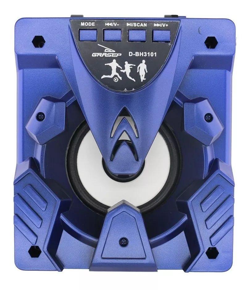 Caixa Som Bluetooth Portátil RGB Grasep D-BH3101