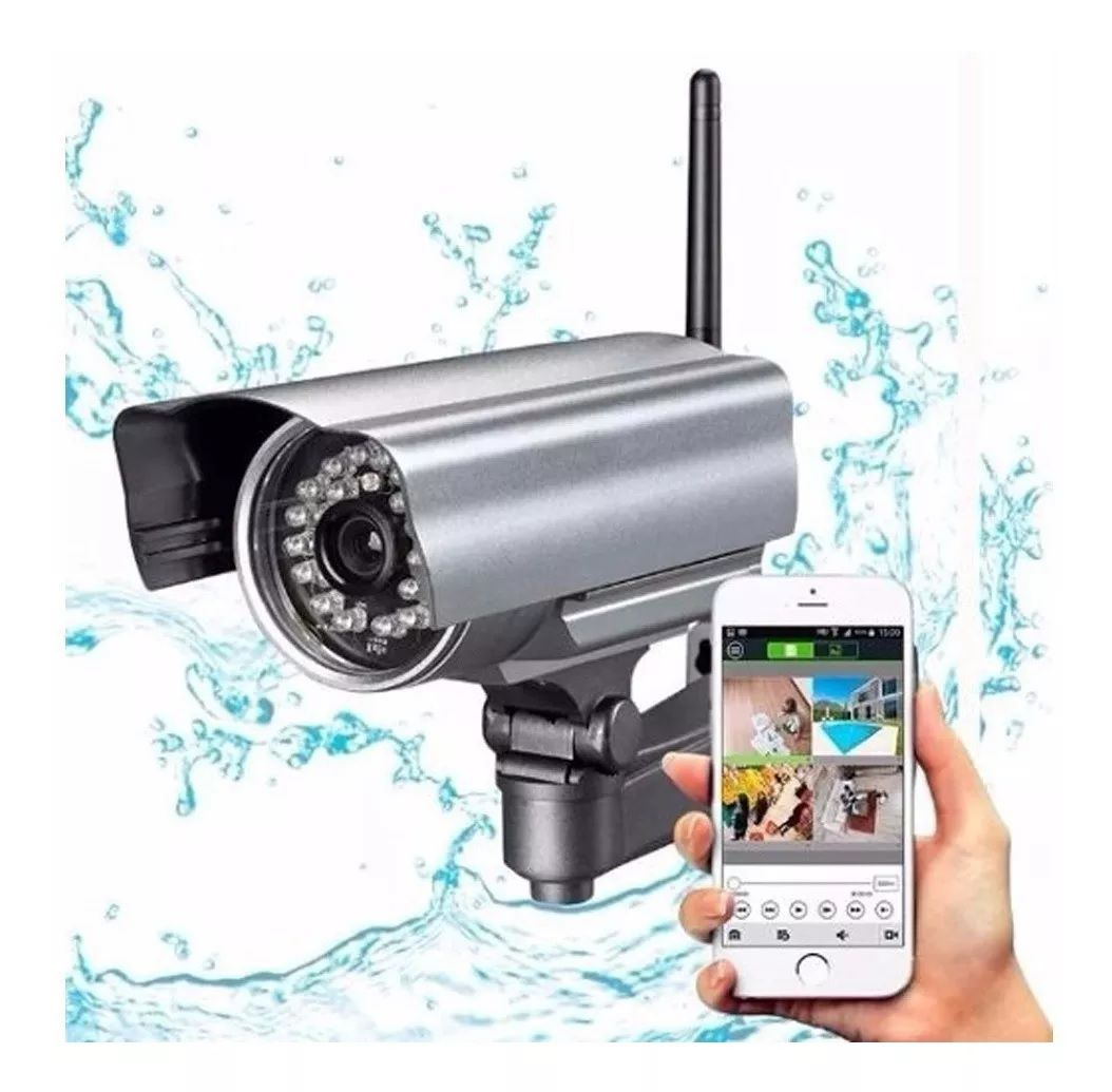 Câmera De Segurança Ip Externa Hd Prova Água