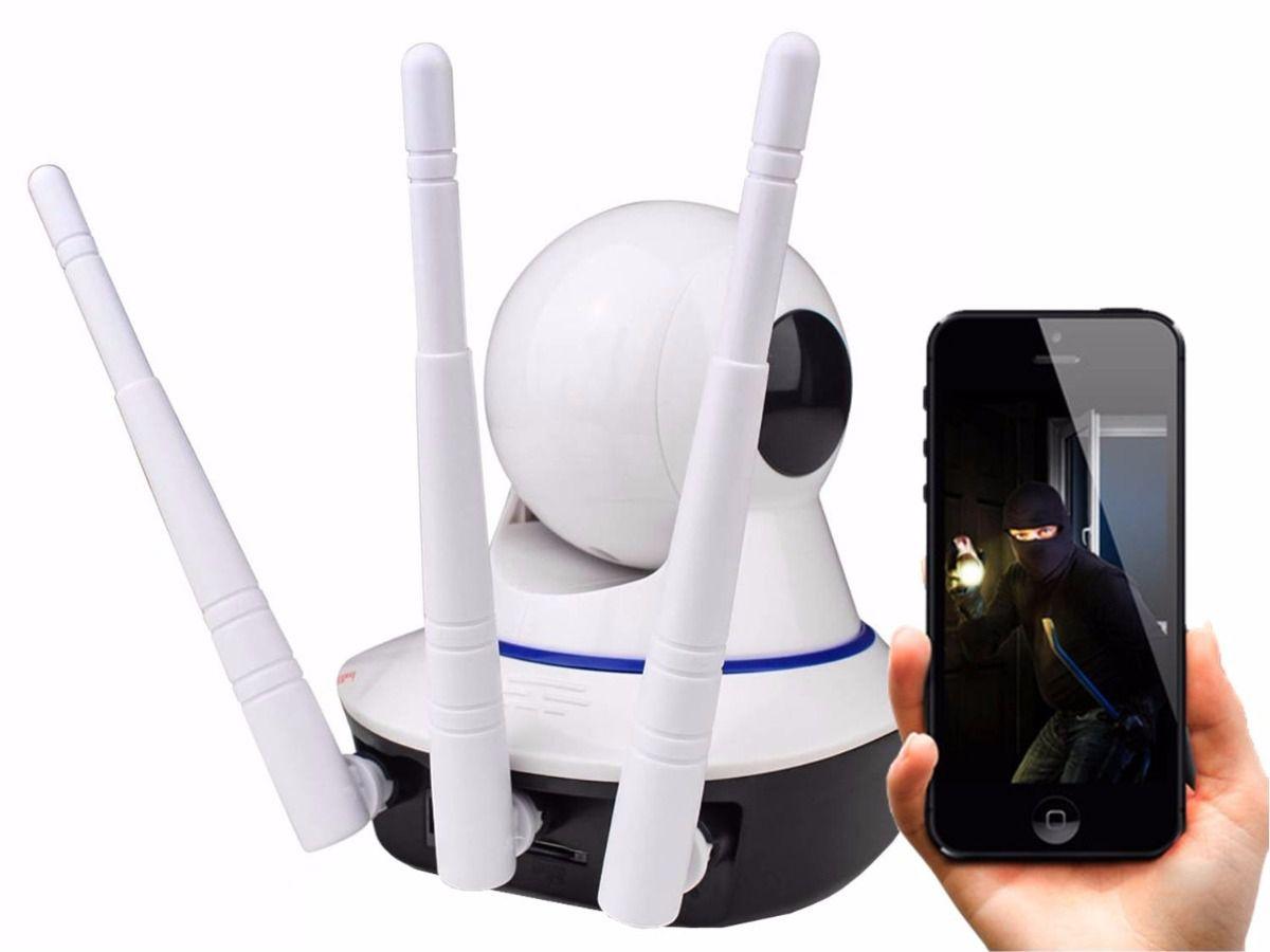 Camera IP HD Wireless 3 Antenas