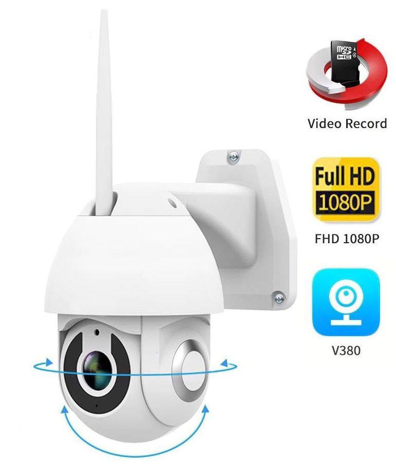 Camera V380 Ip Wifi 1080p Dome À Prova D'água Visão Noturna Infravermelho IPC-T9820-G1