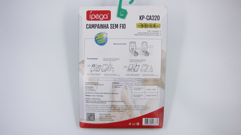 Campainha Wireless Ipega KP-CA320