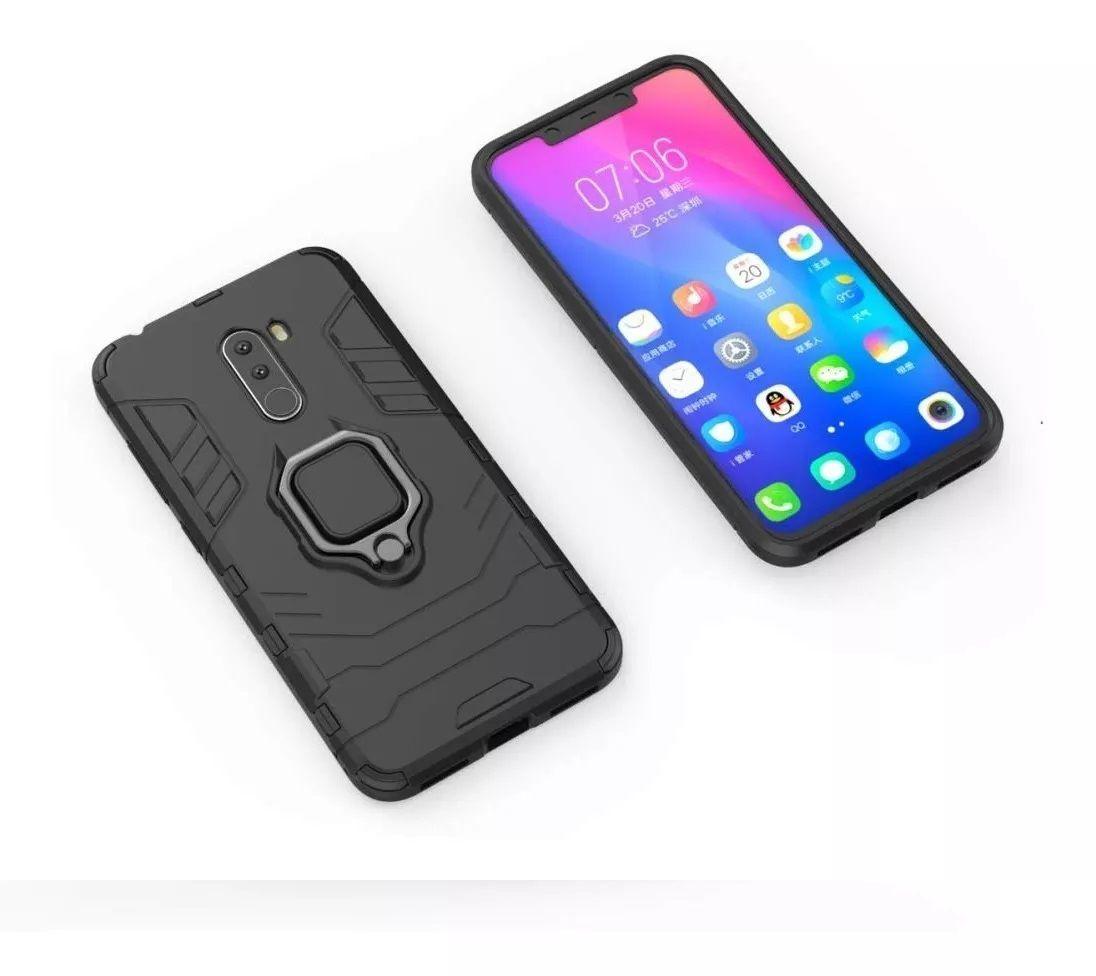 Capa Armadura + Película 5D Xiaomi Pocophone F1 + Suporte Magnético