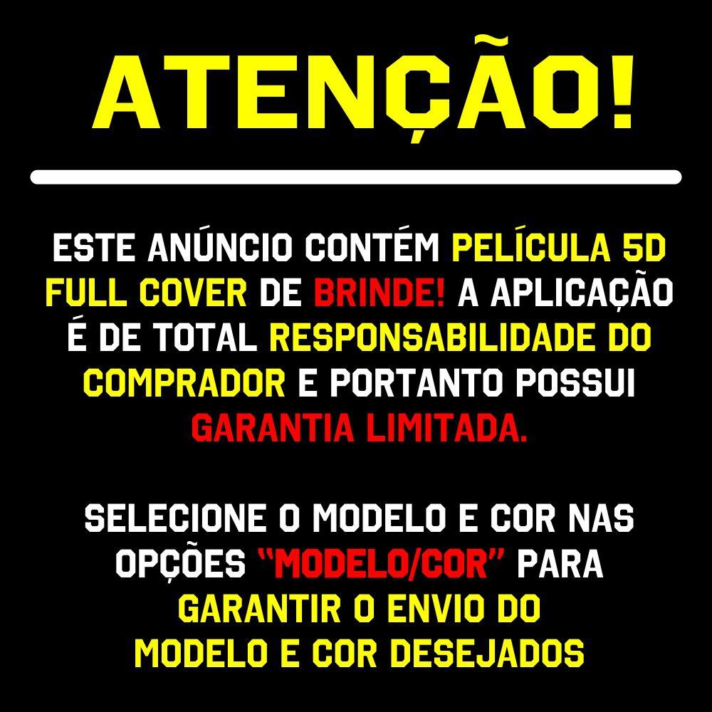 Capa Capinha Armadura + Película 5D Vidro Samsung A10 A20/A30 A40