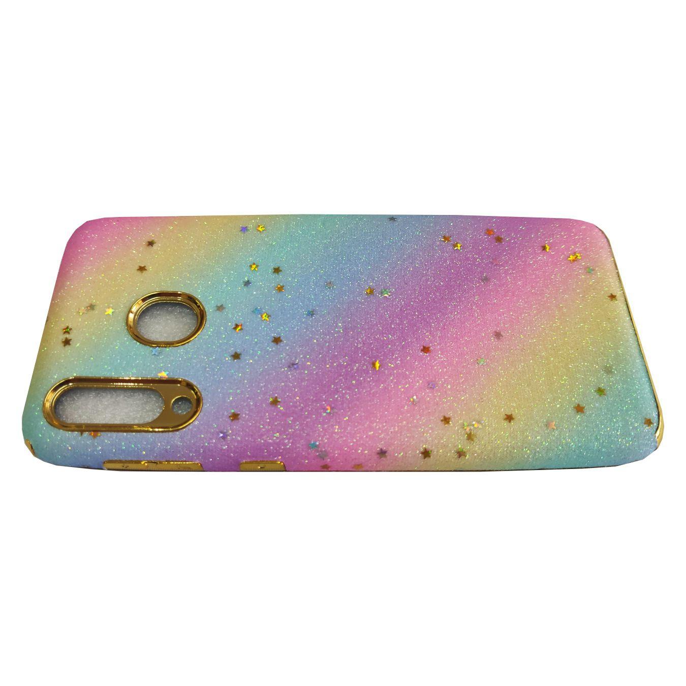 Capinha Anti-Impacto Arco-Íris Glitter