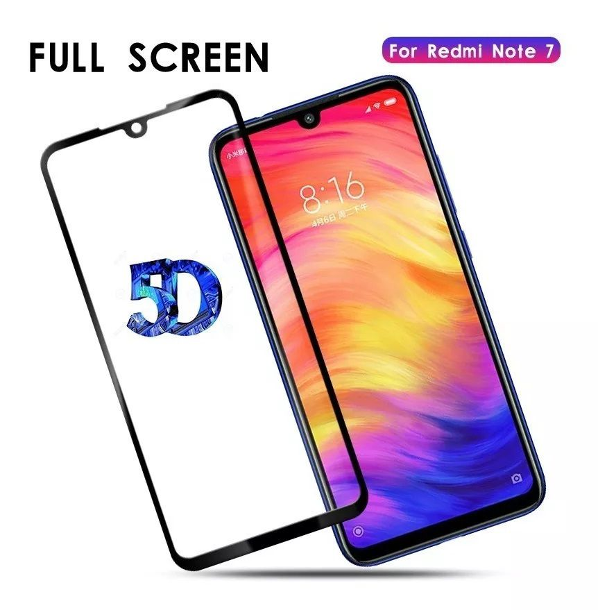 Capinha Anti-Shock + Película 5D Vidro Xiaomi Mi 7, Mi 7A, Note 7