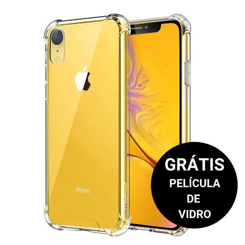 Capinha Anti Shock + Película Vidro Iphone XS Max