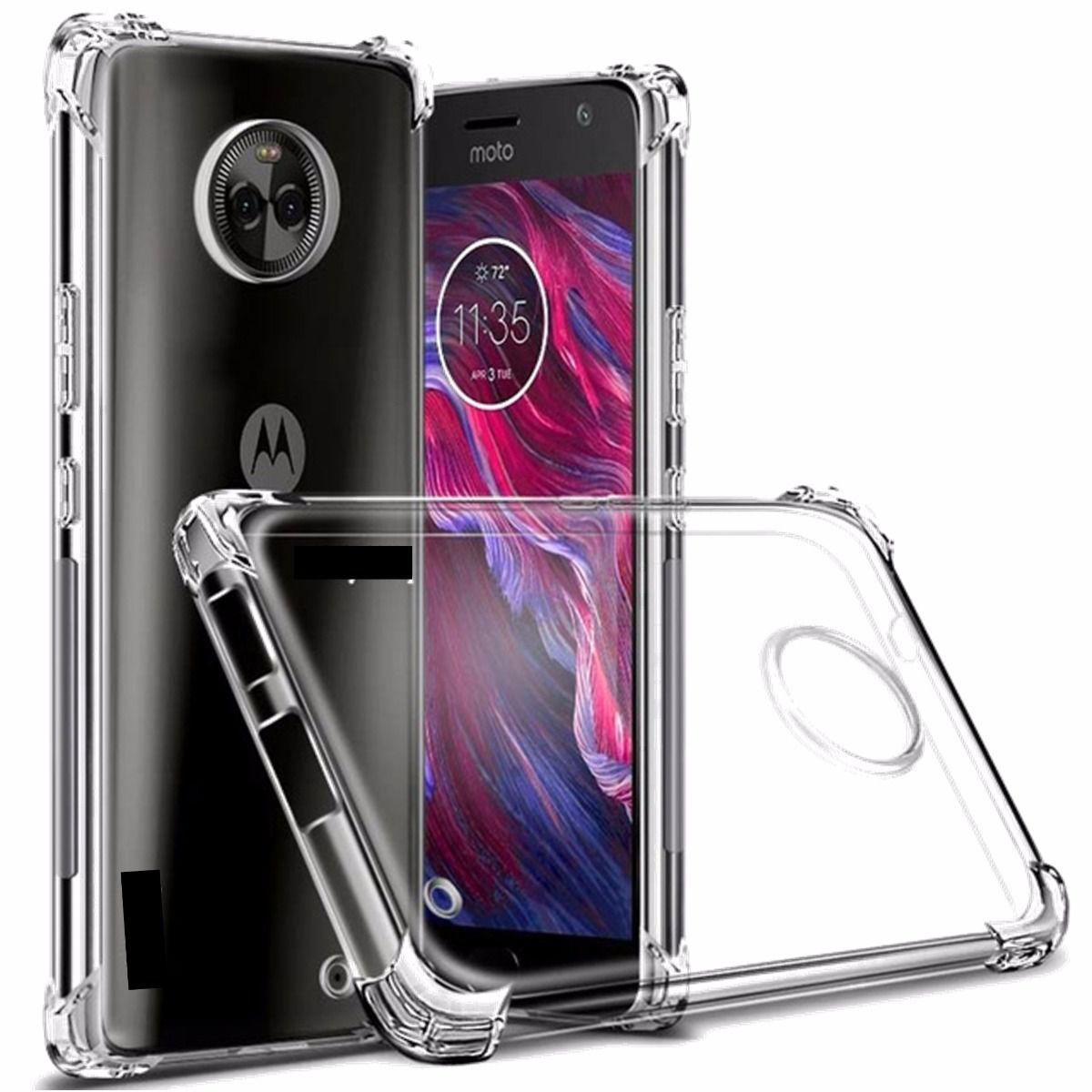 Capinha Anti-Shock Transparente Motorola G1 G2 G3 G4 G5 G6 PLUS ONE