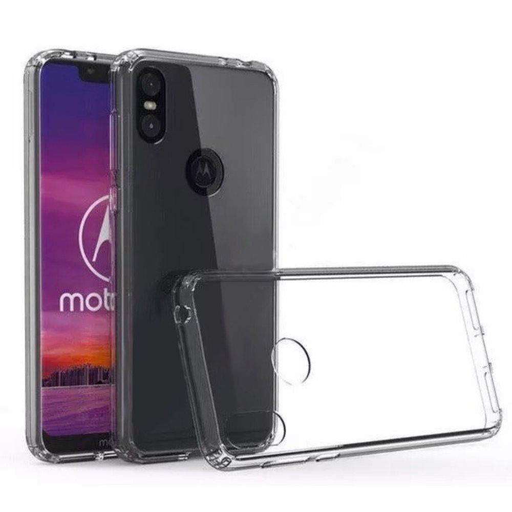 Capinha Anti-Shock Transparente Motorola One, One Vision, One Action, One Zoom