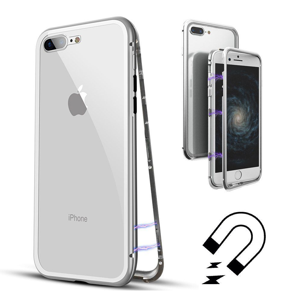 Capinha Case Magnética Vidro 360 Frente/Verso Iphone 6, 6S, 7, 8, 6 Plus, 7 Plus, X, XS, XR, XS MAX