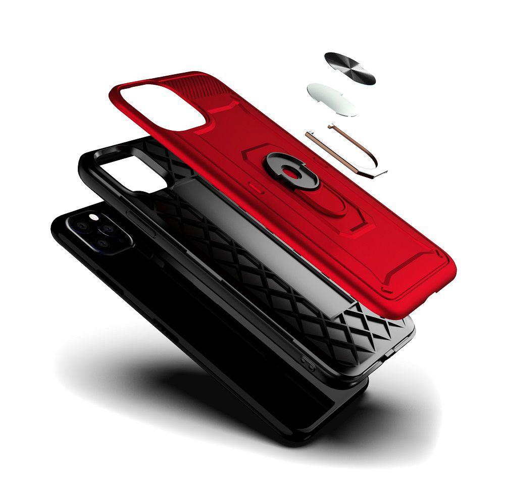 Capinha Shield C/ Anel + Película 5D Vidro Iphone 11, 11 Pro, 11 Pro Max