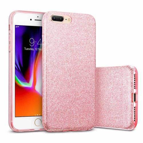 Capinha TPU Glitter Brilhante Iphone 5 6 7 8 X XR XS + Película