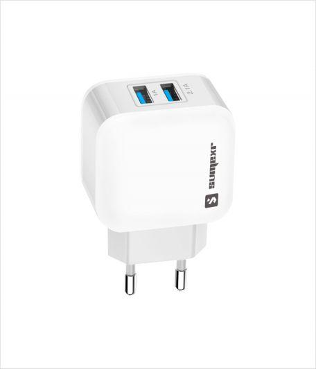 Carregador com 2 saídas USB + Cabo Micro USB V8 SX-F12V8 - Sumexr