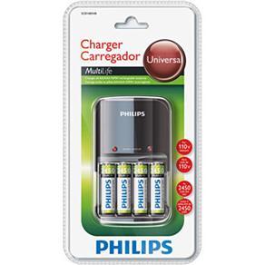 Carregador de Pilhas Philips AA/AAA SCB1450 - 110V