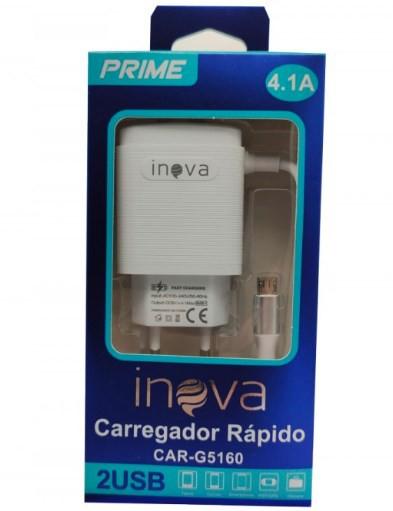 Carregador de tomada V8 2 USB 4.1A CAR-G5160 - INOVA