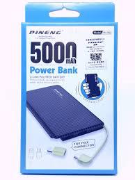 Carregador Portátil Power Bank Pineng 5000mah Slim Original - PN952