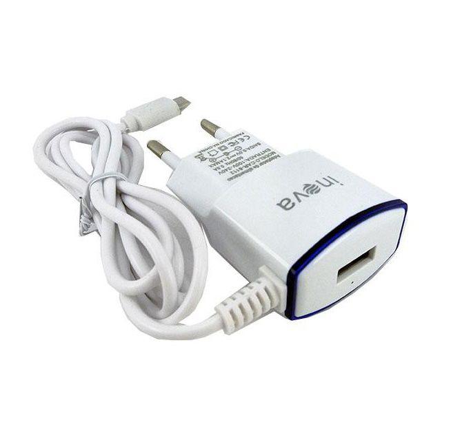 Carregador Rápido c/ Cabo V8 e Saída USB Inova CAR-8112