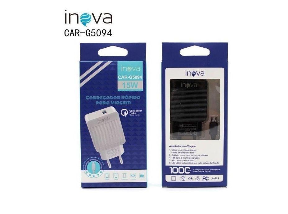 Carregador Rápido USB C/ Cabo V8 15W Inova CAR-5094