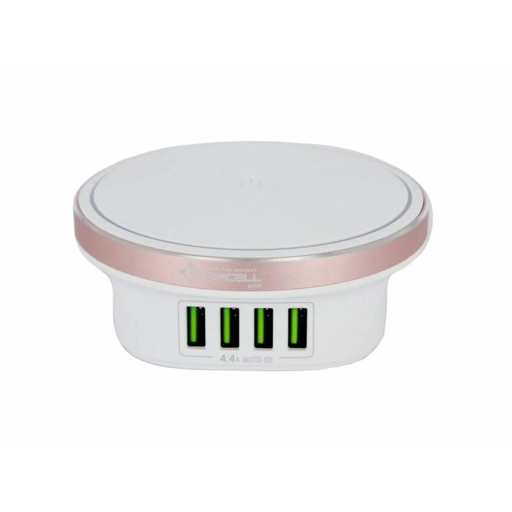 CARREGADOR TOMADA 4x USB TURBO TOUCH LED PMCELL PLUS HC53