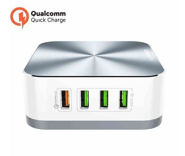 CARREGADOR TOMADA QUALCOMM 8x USB 10A TURBO PMCELL MAXX HC43