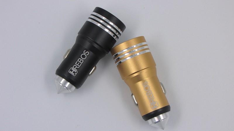 Carregador  Veicular 3.1A Alumínio HS-110