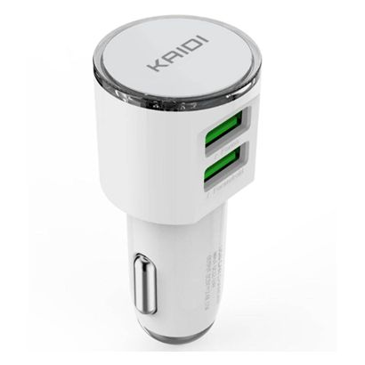 Carregador Veicular Turbo 2x USB 3.4a Kaidi KD303c C/ Cabo Tipo-C