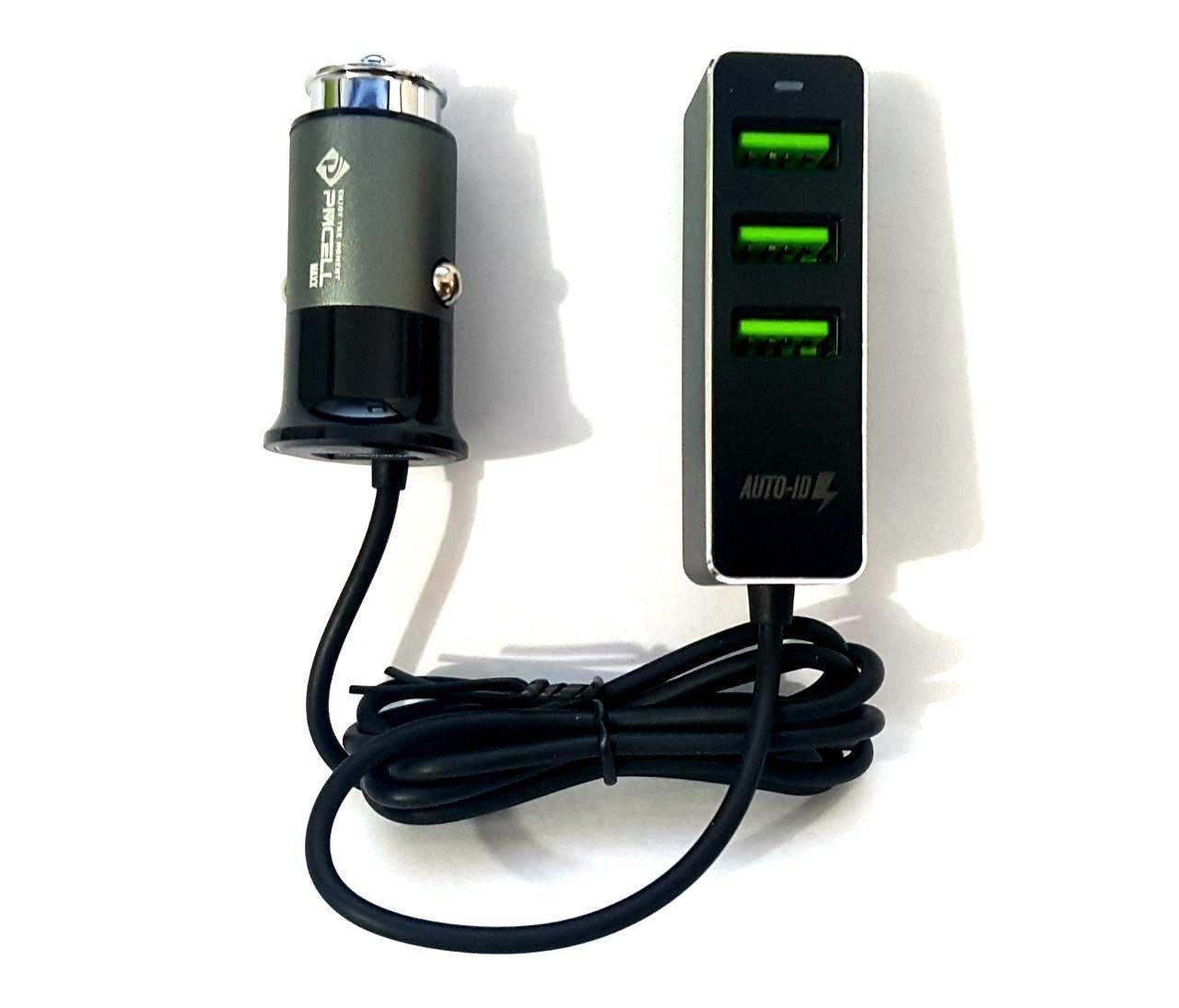 CARREGADOR VEICULAR UBER TAXI 4X USB EXTENSOR PMCELL CV43