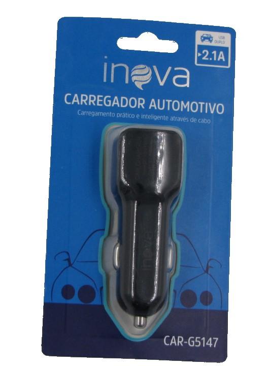 Carregador Veicular USB Duplo 2.1A Inova CAR-G5127